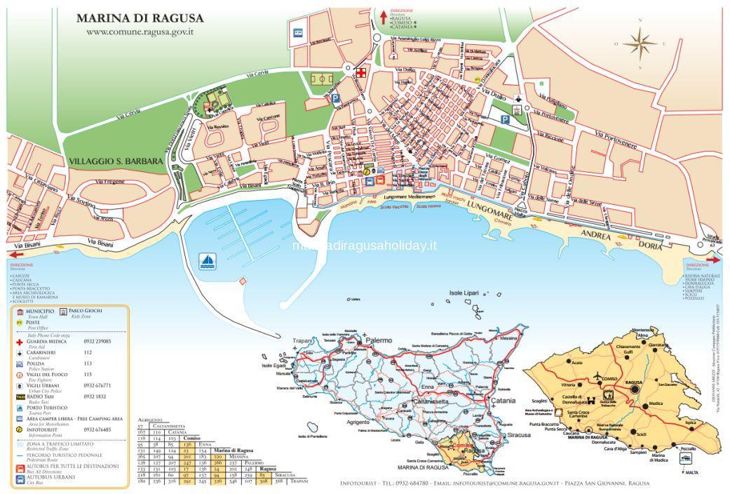Ragusa tourist map