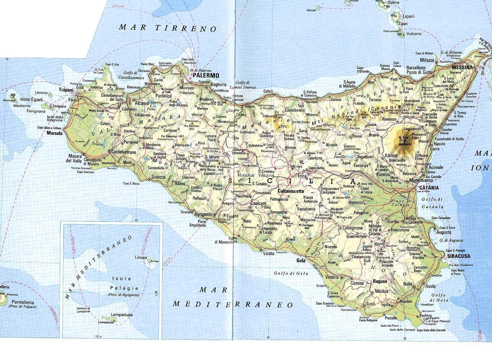 Cartina Completa Sicilia.Case Vacanze Marina Di Ragusa Ragusa